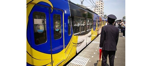メーテルが大胆にデザインされた列車!