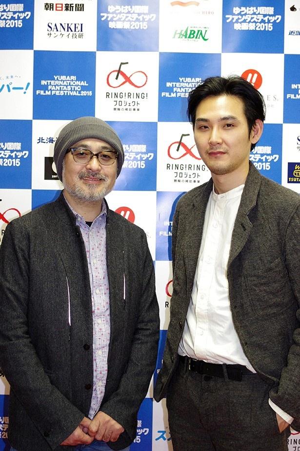 夕張を訪れた松尾スズキ監督と主演の松田龍平
