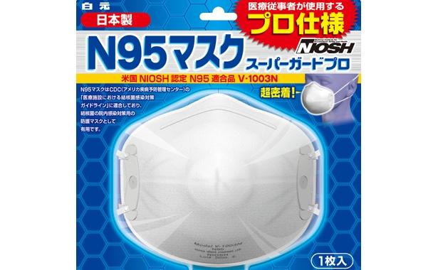 米国NIOSH(労働安全衛生研究所)のN95規格をクリアした、結核菌の院内感染対策用として使われている高機能マスク「N95」