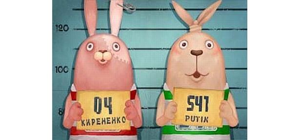 陽気なプーチン(右)と物静かだがキレると怖いキレネンコ(左)が織り成すドタバタ劇!