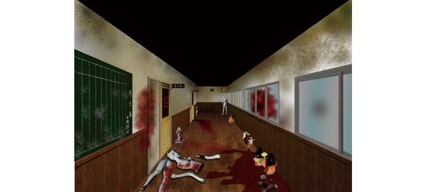 廊下も怖い(イメージ)
