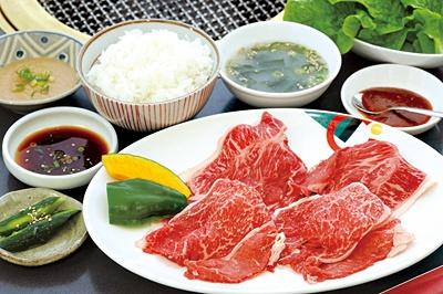 「昌苑」の(土)(日)(祝)ランチ、伊賀牛焼しゃぶセット(2000円)は高級肉を使用