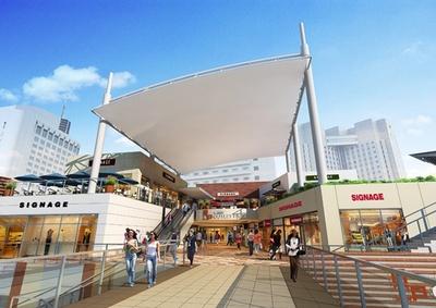 海浜幕張駅の目の前にある「三井アウトレットパーク 幕張」。2015年夏には増床リニューアルし、新たに約30店舗が加わる予定 ※画像はイメージ