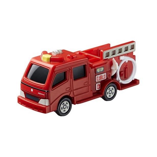 「モリタ CD-I型 ポンプ消防車」は、ホースを引き出して遊べる!