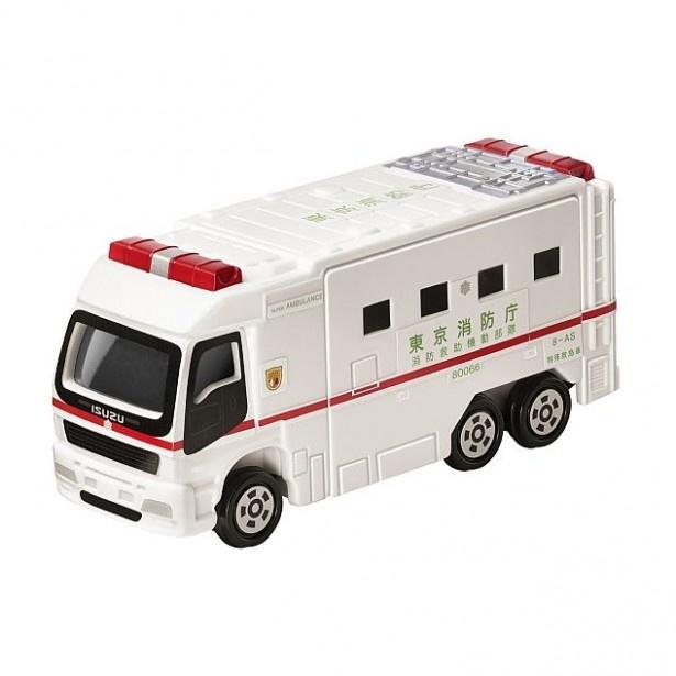 「スーパーアンビュラス」は、車内にある病室を左右に引き出すことができる