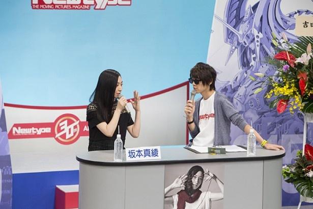 「攻殻機動隊」の草薙素子という大役を担うプレッシャーについて語る坂本真綾。自身も作品のファンとのことで、視聴者の気持ちもわかるそう