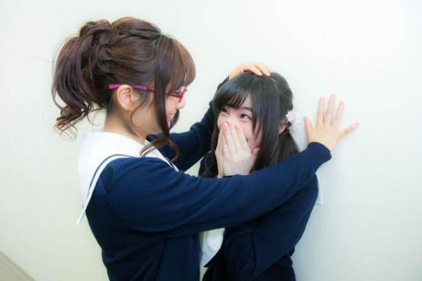 三番手は常盤真智役の沼倉愛美さん。上田さんがとても緊張してしまい、耳の端まで真っ赤に!沼倉さんの目を見るだけで精一杯の様子。そんなわけでリバースはありません!