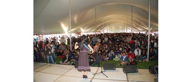 ステージの前には約800人の観客が!