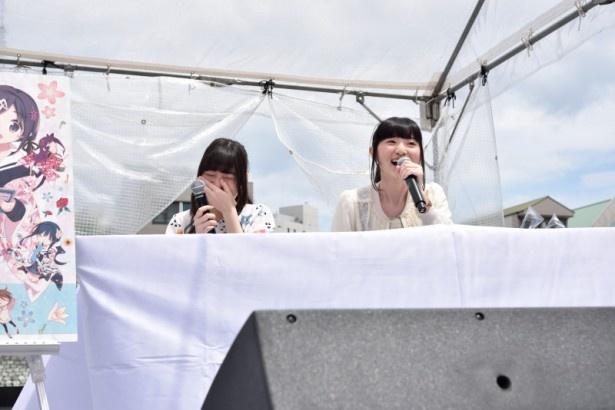 4月26日(日)に開催されたイベント「花彩よさこい祭 二組目」の舞台裏の様子など、ステージ上&会場も爆笑を禁じ得ないエピソードが披露された