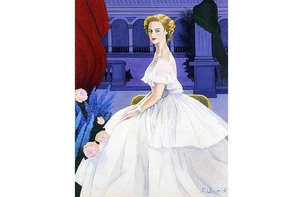 デヴィ夫人ことラトナ・サリ・デヴィ・スカルノさんの絵は、「美しきプリンセス・マーガレット」
