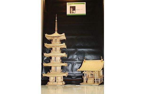 アイディア賞・町田常次郎さん「リサイクル古都」(使用済みの割り箸で作る)