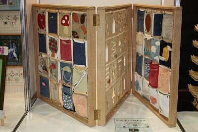 アイディア賞・星野千絵さん「PATCH・BOOK」(着なくなったジーンズや子供服を使用)