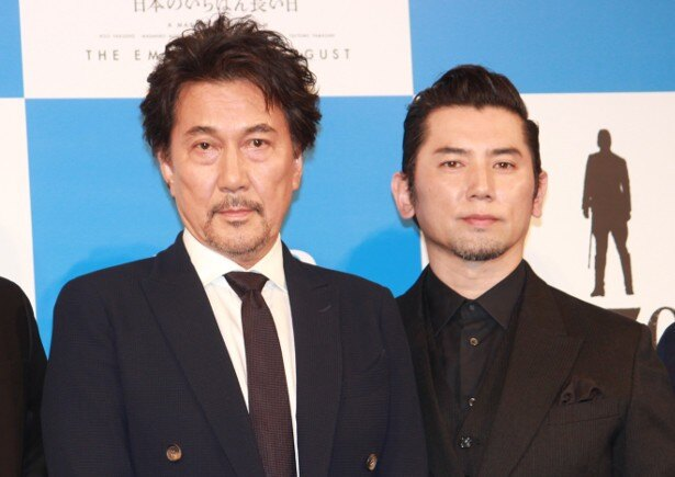 『日本のいちばん長い日』に出演する役所広司と本木雅弘