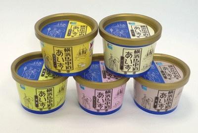 横濱馬車道あいすはバニラ、カスタード、いちごミルク、抹茶、小豆の5種あり。フレーバーは当日のお楽しみに!