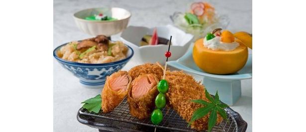 1575円の定食。10/10(金)までの限定メニューで、昼のみ食べられる