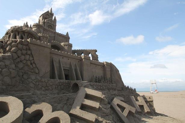 最終日!石狩浜の砂像アート