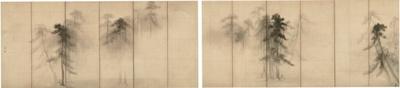6月9日(火)から21日(日)まで登場する、長谷川等伯 「松林図屏風」 桃山時代 東京国立博物館