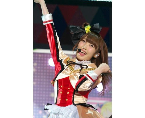 「演技のお時間@ファンミーティング」にて、内田さんは新田さんと南條さんとの「トリプル絵里」を披露。3人で決めセリフの「ハラショー!!」を叫び、場内は大爆笑に包まれました