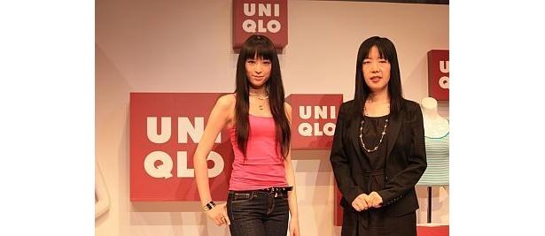 ユニクロの執行役員白井恵美さんとのツーショット