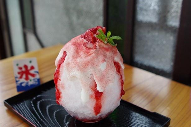 和kitchen かんなの和歌山県産イチゴをたっぷり使った「マスカルポーネいちご&ミルキッシュヨーグルト」(950円)