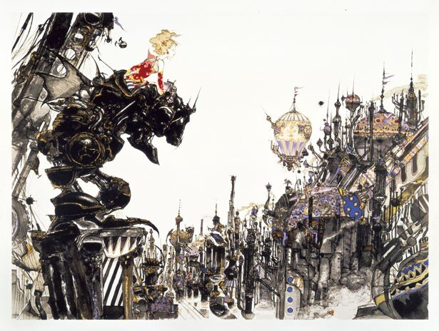 「FINAL FANTASY IV 街」天野喜孝の代表作品。繊細かつ緻密、そして圧倒的な表現力に思わず息をのむ