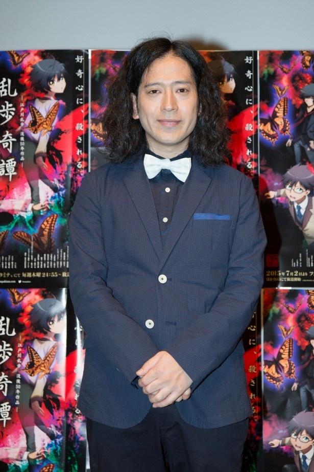 アニメ「乱歩奇譚 」の先行上映会と終了後の囲み取材に、作品の宣伝部長に就任したピース・又吉直樹が出席