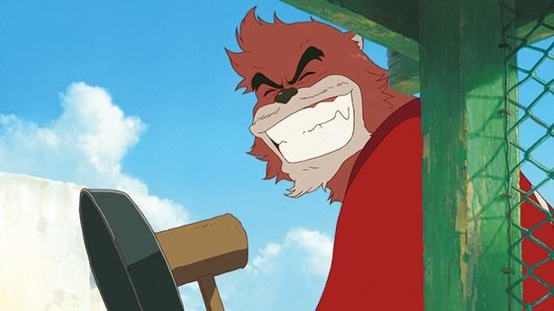 役所広司が演じる熊徹。九太の師匠であり、「九太」の名付け親でもある