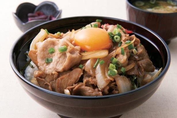 埼玉のブランド豚を使用したボリューム満点「彩の黒豚焼肉丼」(900円)