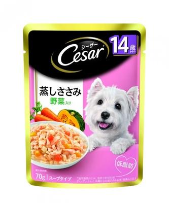 シーザーから14歳以上のシニア犬に好適なドッグフードが登場(参照価格は100円前後)