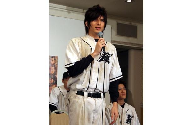 大河ドラマ「天地人」に出演する城田優は時代劇口調で会場を和ませた