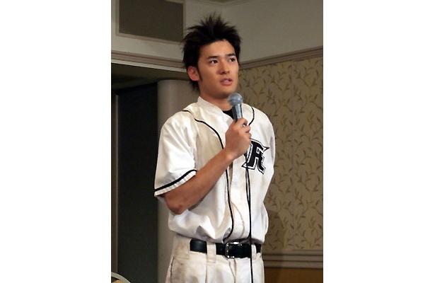 野球服の高岡蒼甫がかっこいい