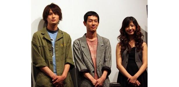 左から・岡田将生、加瀬亮、吉高由里子。『重力ピエロ』のキャスト3人