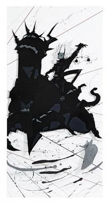 「黒い馬」。7月15日(水)にAmazonに登場した「天野喜孝 『黙示録』 原画12点+DVDセット」