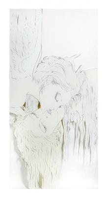 「接吻」。7月15日(水)にAmazonに登場した「天野喜孝 『黙示録』 原画12点+DVDセット」