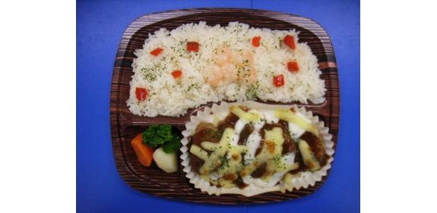 ハンバーグ&グラタン弁当 ¥498
