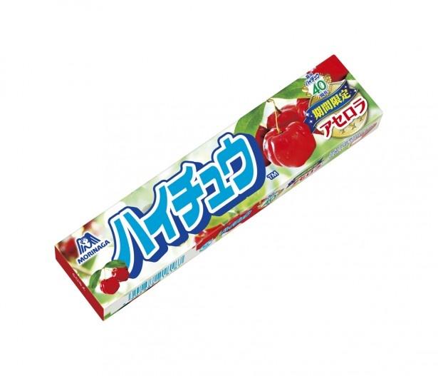 甘酸っぱく、フルーティーな味わいの「ハイチュウ アセロラ」(参考小売価格108円)。噛むとリフレッシュ感が得られ、社会人の女性にもおすすめ
