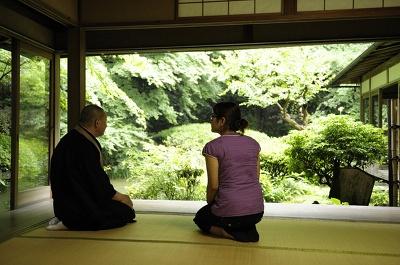 宿坊滞在中に鑑賞できる相阿弥作の長楽寺の庭園