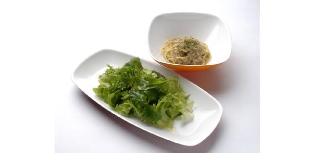 活菜サラダとパスタのセットで1050円は安いかも…