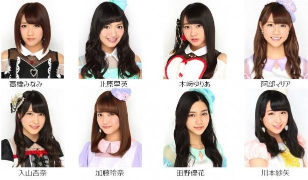 ファッションショーに登場するAKB48メンバーたち