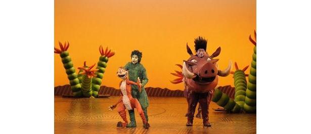 ティモンとプンバァの博多弁でのやりとりは爆笑もの  撮影=上原タカシ/(C)Disney