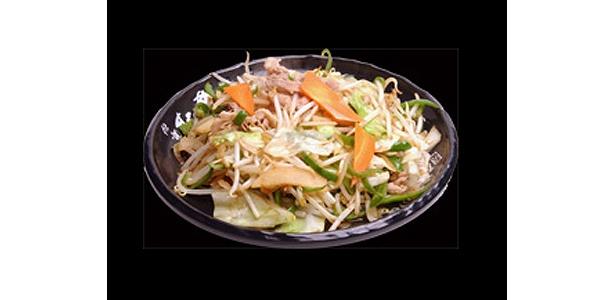 豚バラ肉と、6種類の野菜を強火で炒めた「肉野菜ライス」