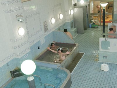 朝風呂&温泉は珍しい!