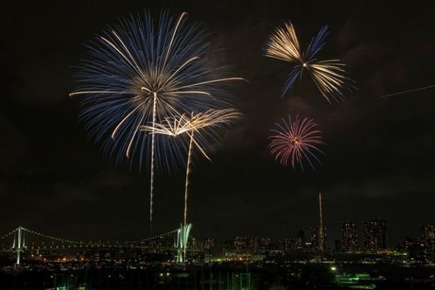 2014年には、約68万人の人出を記録した関東屈指の人気花火大会「第27回東京湾大華火祭」。メイン会場はどこも混雑必至だ
