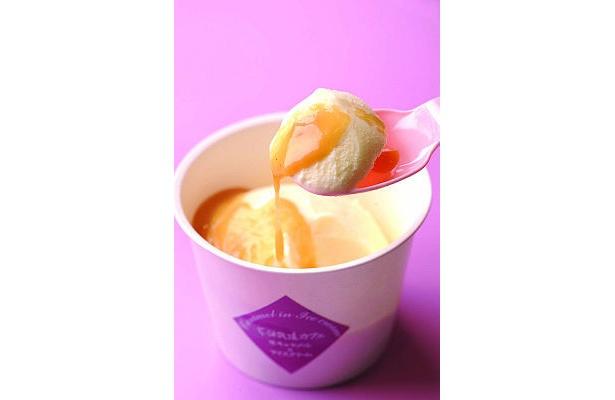 大人気!花畑牧場カフェの「ホットキャラメル・アイスクリーム」【ほか人気アイス画像】