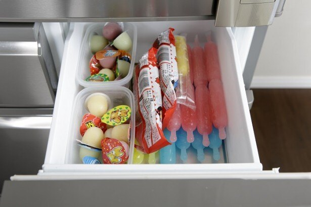 切り替えルームをアイス専用にすると、子どもにもわかりやすくて◎。