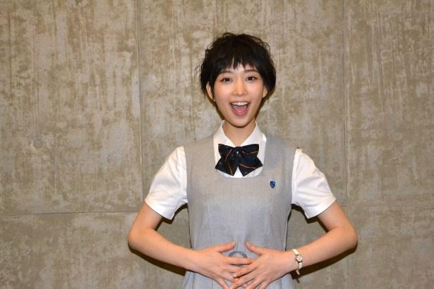 TBS系で放送中のドラマ「表参道高校合唱部!」に出演中の森川葵を直撃!