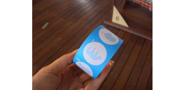 スタンプカードはこんな感じ。6個押します。アラサーのわたしにも笑顔でくれました