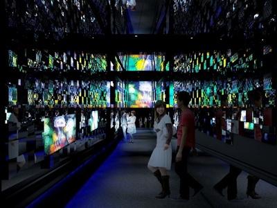 「クラゲ万華鏡トンネル」夜バージョンのイメージ
