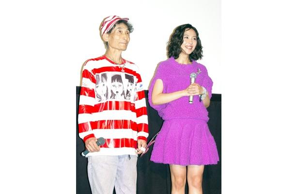 試写会では、衣装もチェンジした木村佳乃が登場