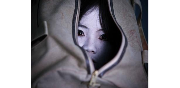 鞄の中から覗く瞳。恐すぎる!!!